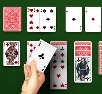Играть в косынку по три карты
