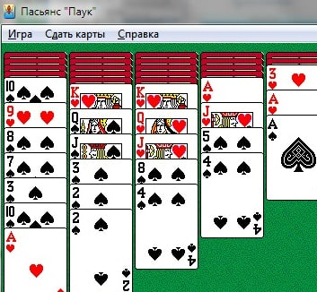 Играть в карты паук 1 масть пасьянс бесплатно
